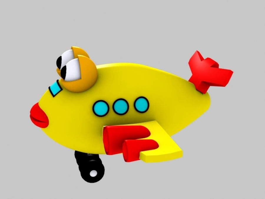 Fish Airplane Toy royalty-free 3d model - Preview no. 5