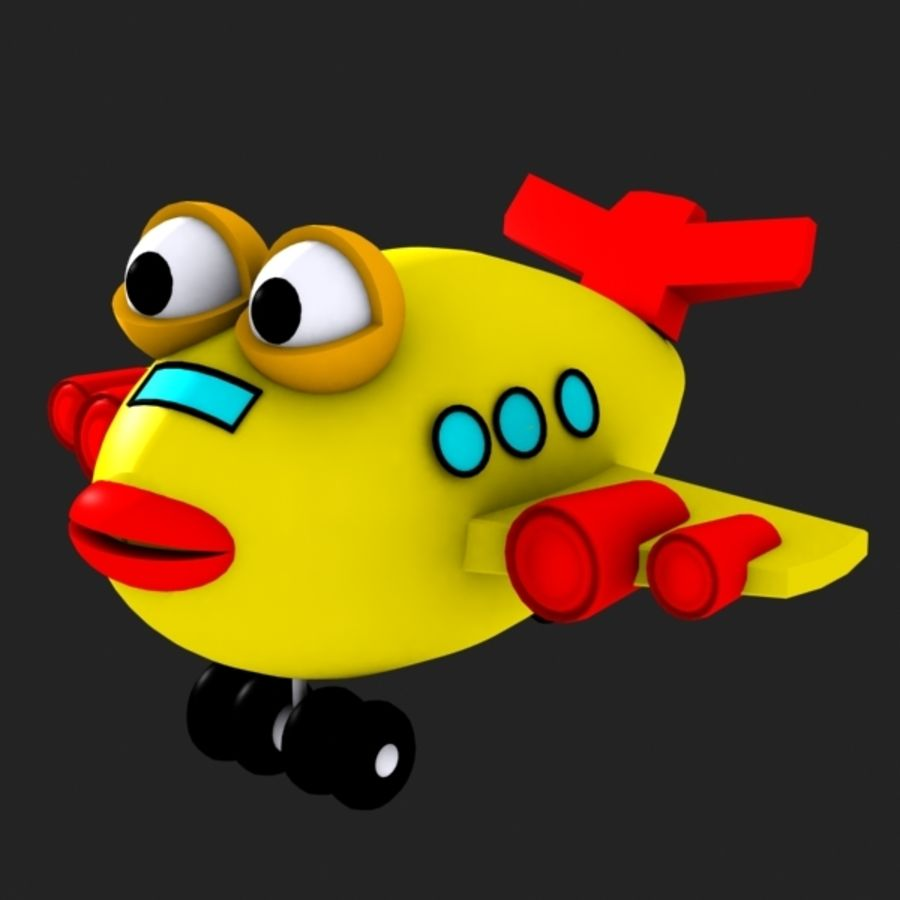 Fish Airplane Toy royalty-free 3d model - Preview no. 2