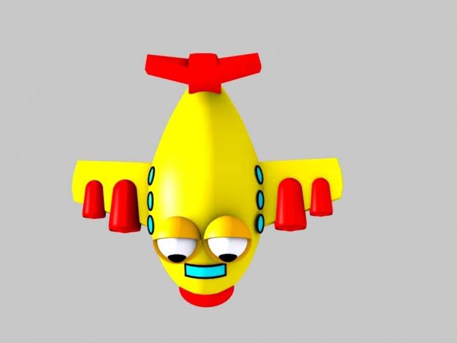 Fish Airplane Toy royalty-free 3d model - Preview no. 6