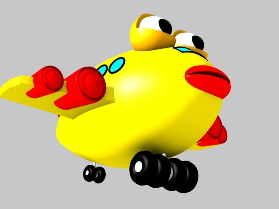 Fish Airplane Toy royalty-free 3d model - Preview no. 8