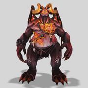 悪魔の主 3d model