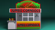 Corn Dog Booth(1) 3d model