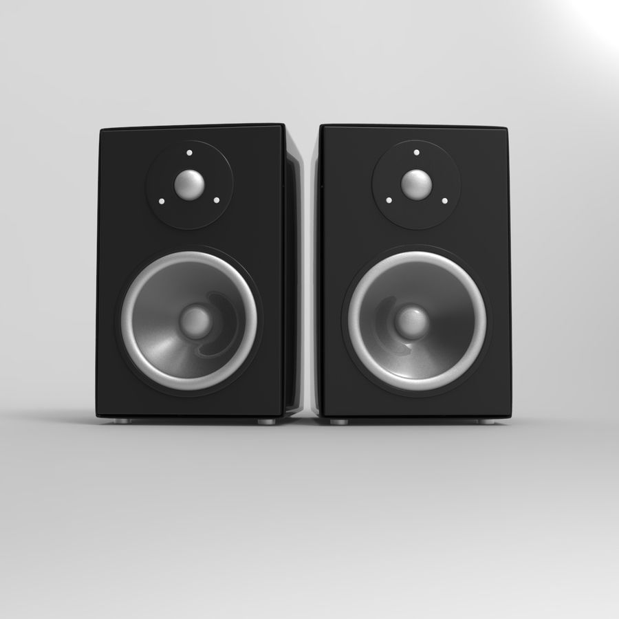 Speakers royalty-free 3d model - Preview no. 5