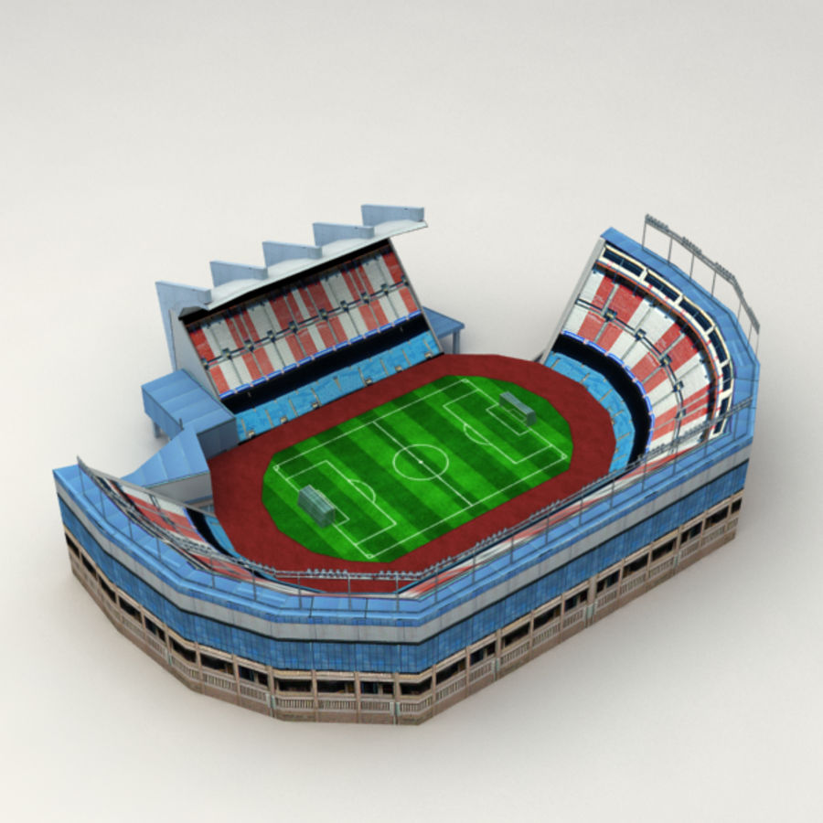 Low poly stadium royalty-free 3d model - Preview no. 3