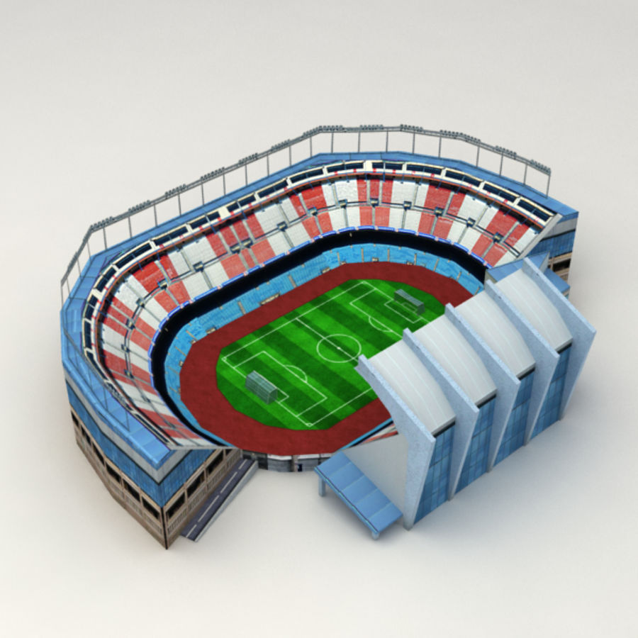 Low poly stadium royalty-free 3d model - Preview no. 1