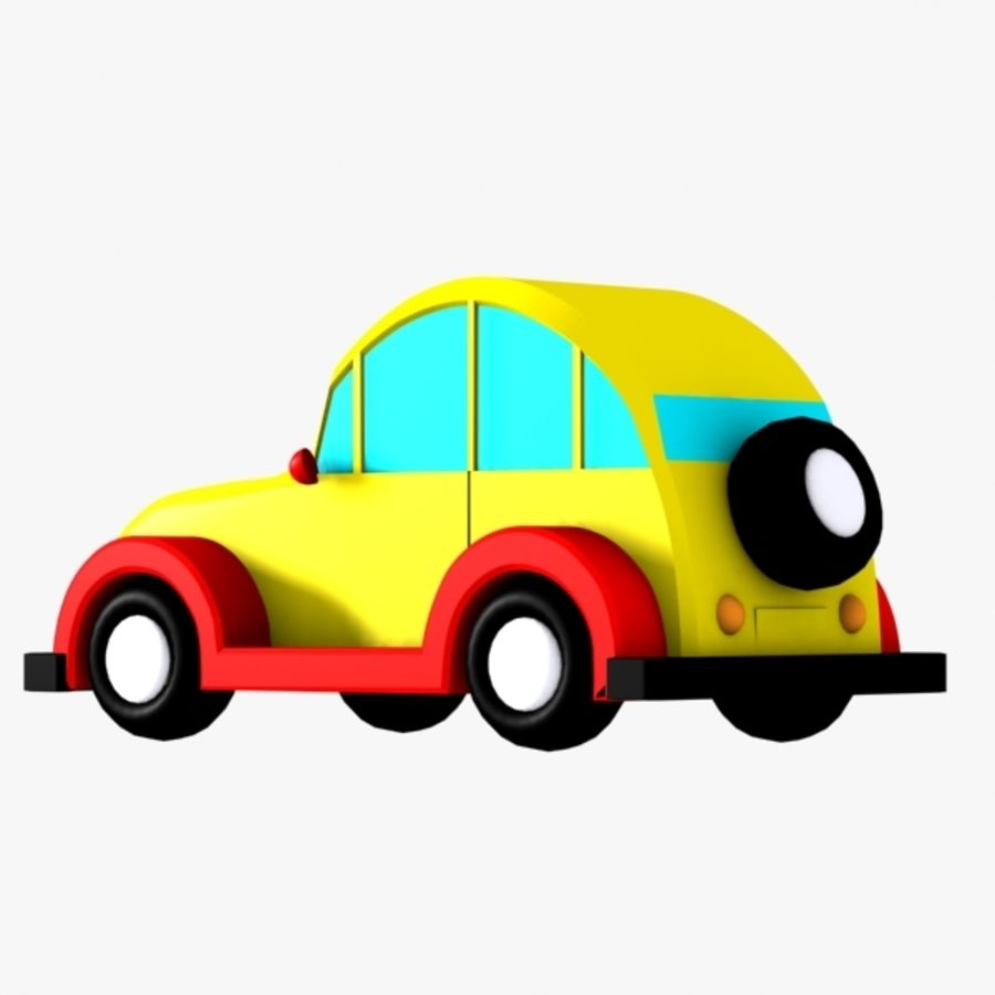 Carro de brinquedo_03 royalty-free 3d model - Preview no. 3
