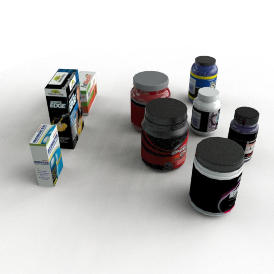 Botellas y Cajas de Vitaminas royalty-free modelo 3d - Preview no. 5