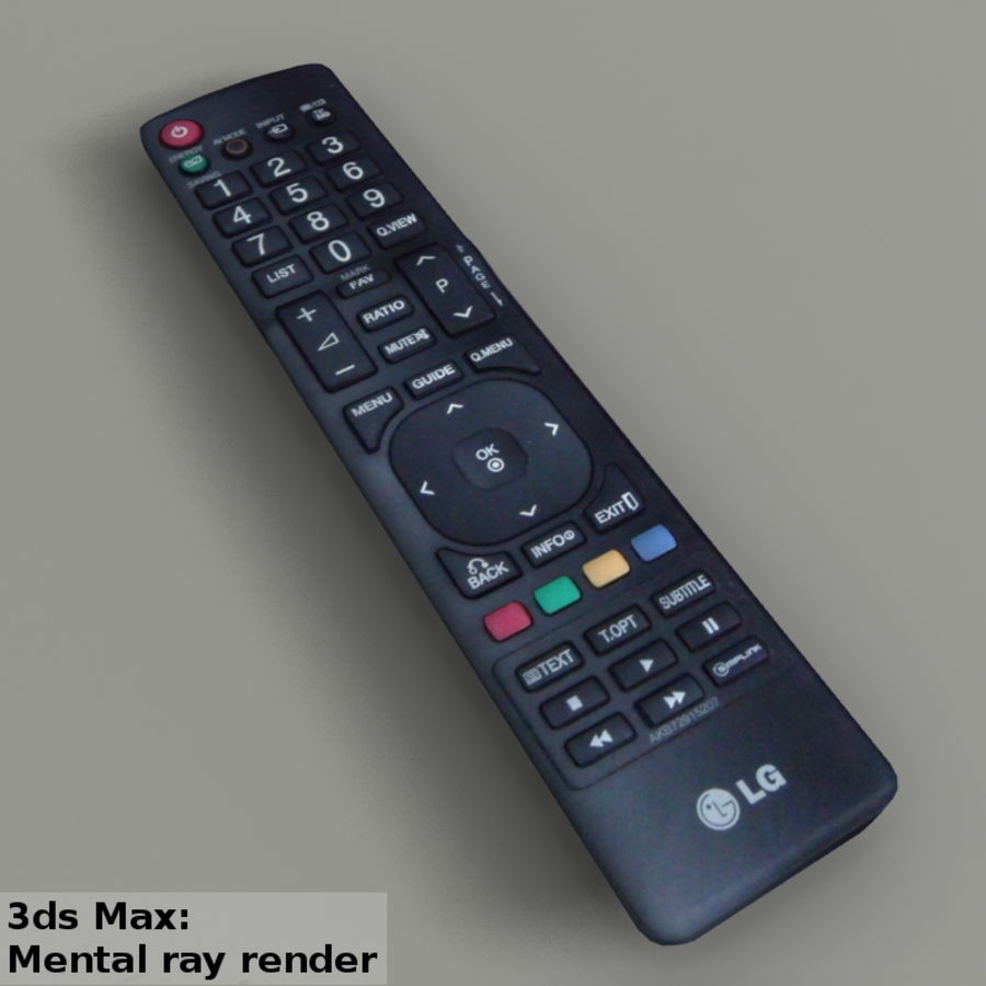 LG TV Remote royalty-free 3d model - Preview no. 7