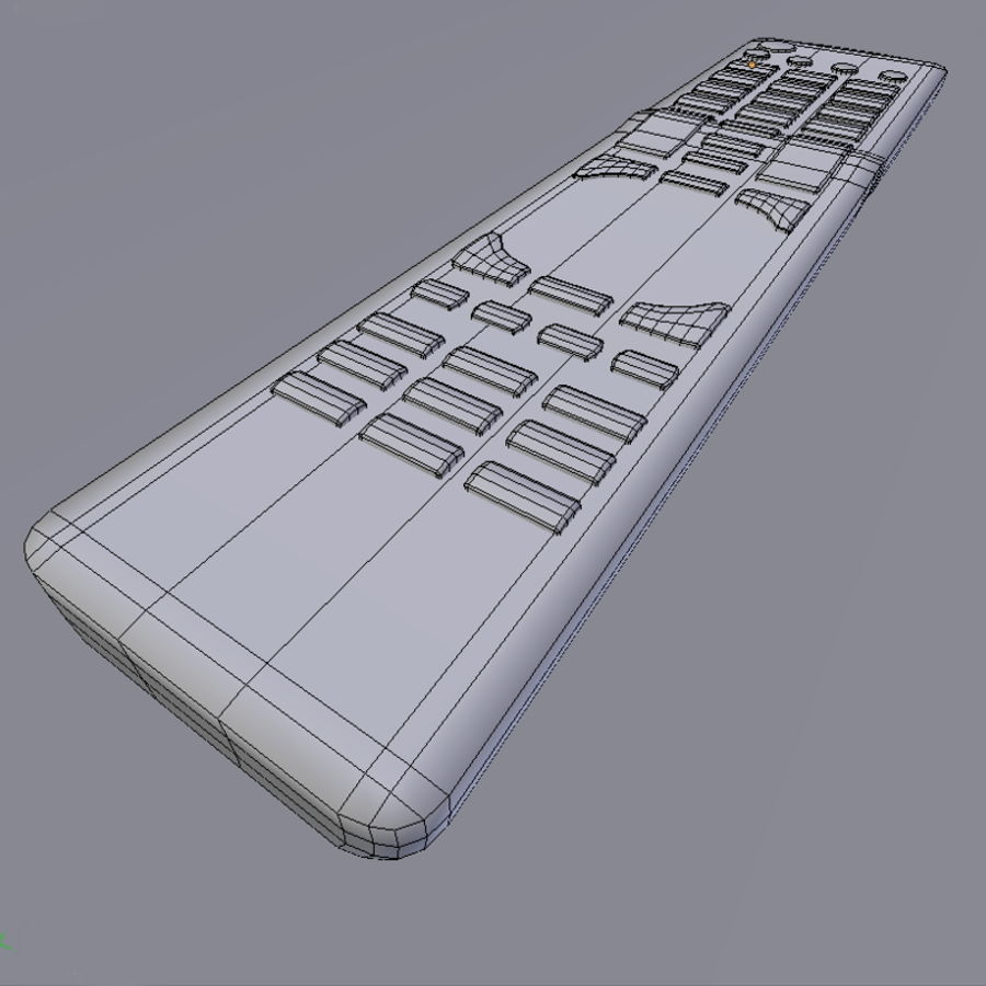 LG TV Remote royalty-free 3d model - Preview no. 6