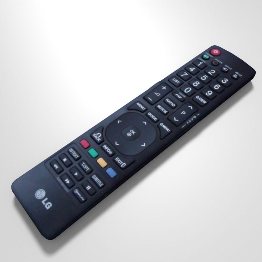 LG TV Remote royalty-free 3d model - Preview no. 1