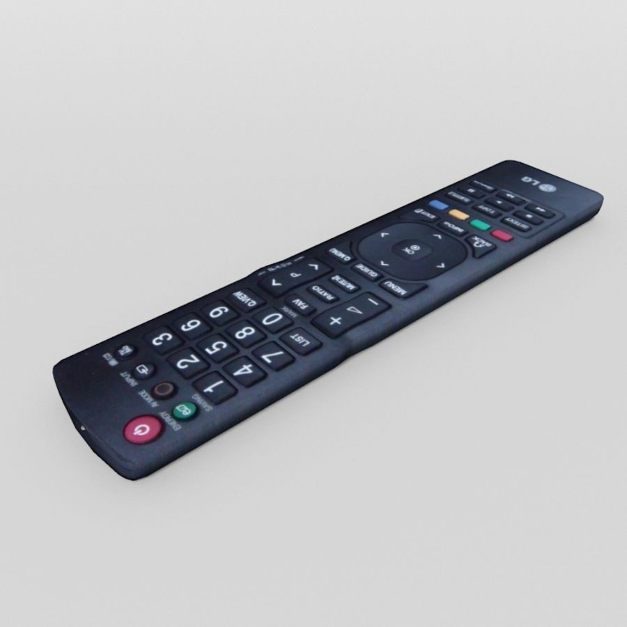 LG TV Remote royalty-free 3d model - Preview no. 3