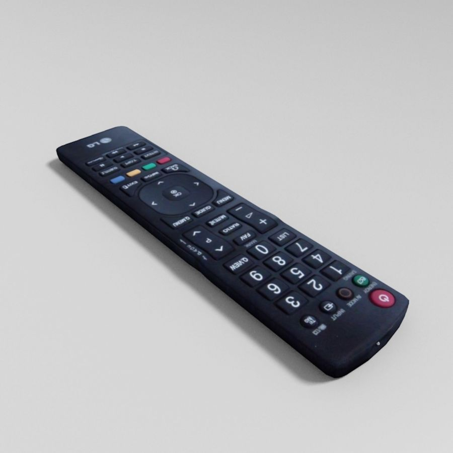 LG TV Remote royalty-free 3d model - Preview no. 2