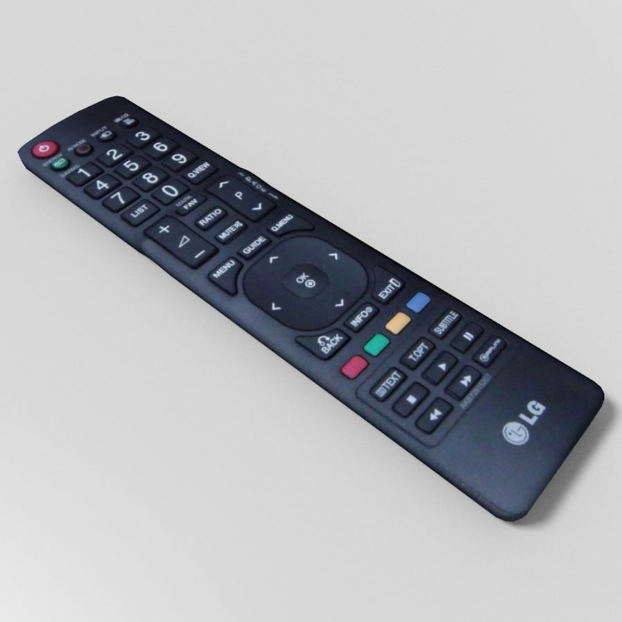 LG TV Remote royalty-free 3d model - Preview no. 4