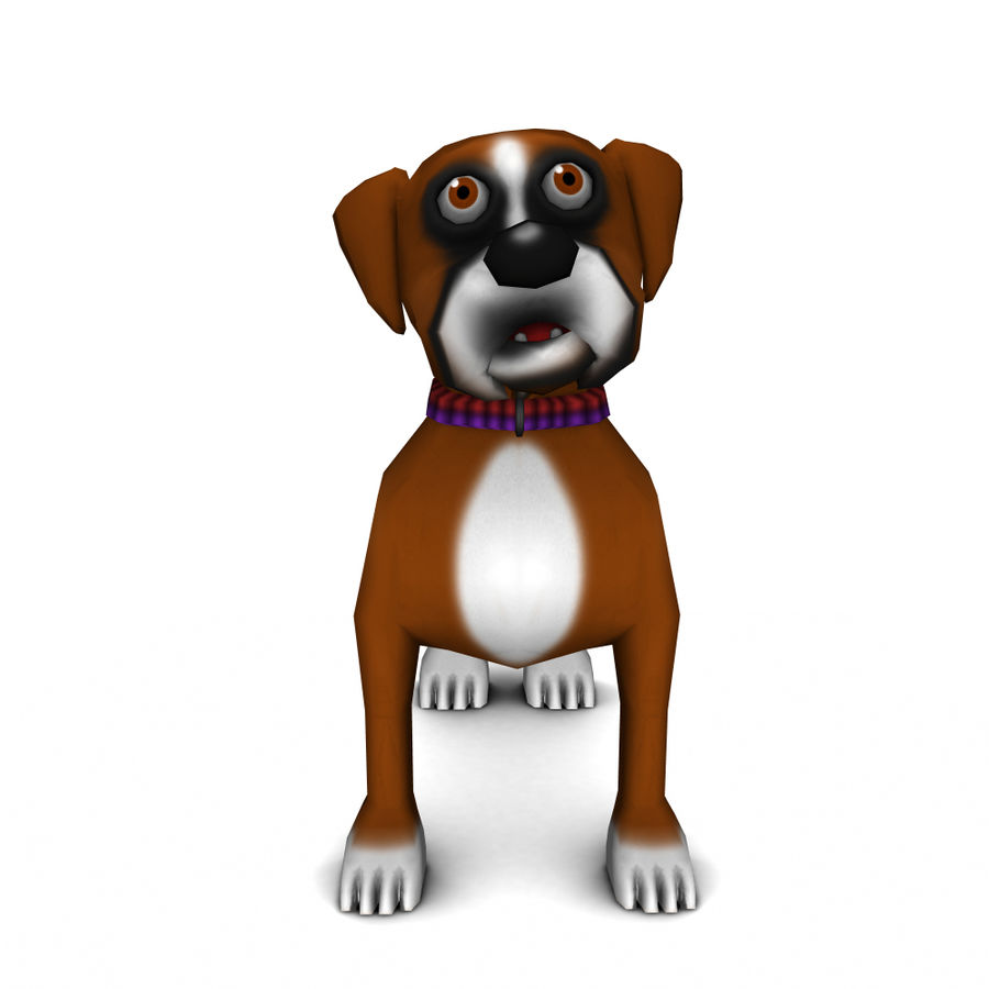 dog royalty-free 3d model - Preview no. 1