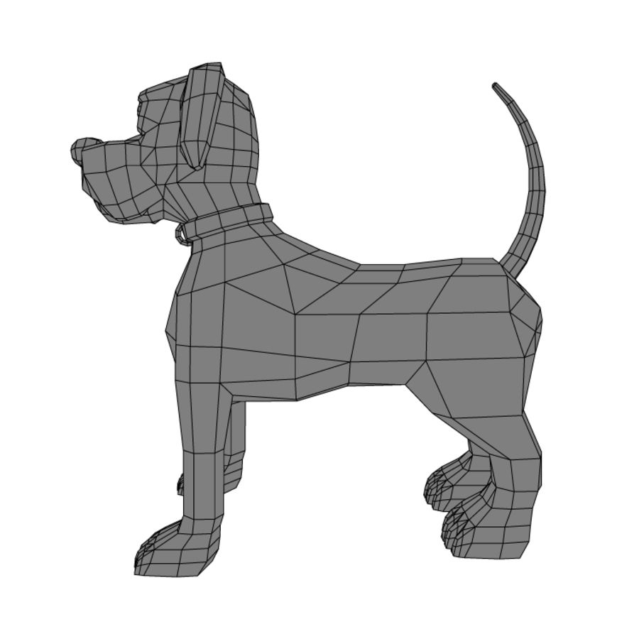 dog royalty-free 3d model - Preview no. 3