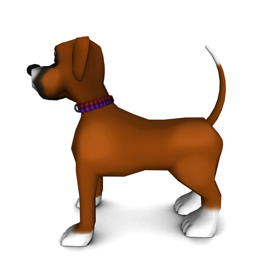 dog royalty-free 3d model - Preview no. 2