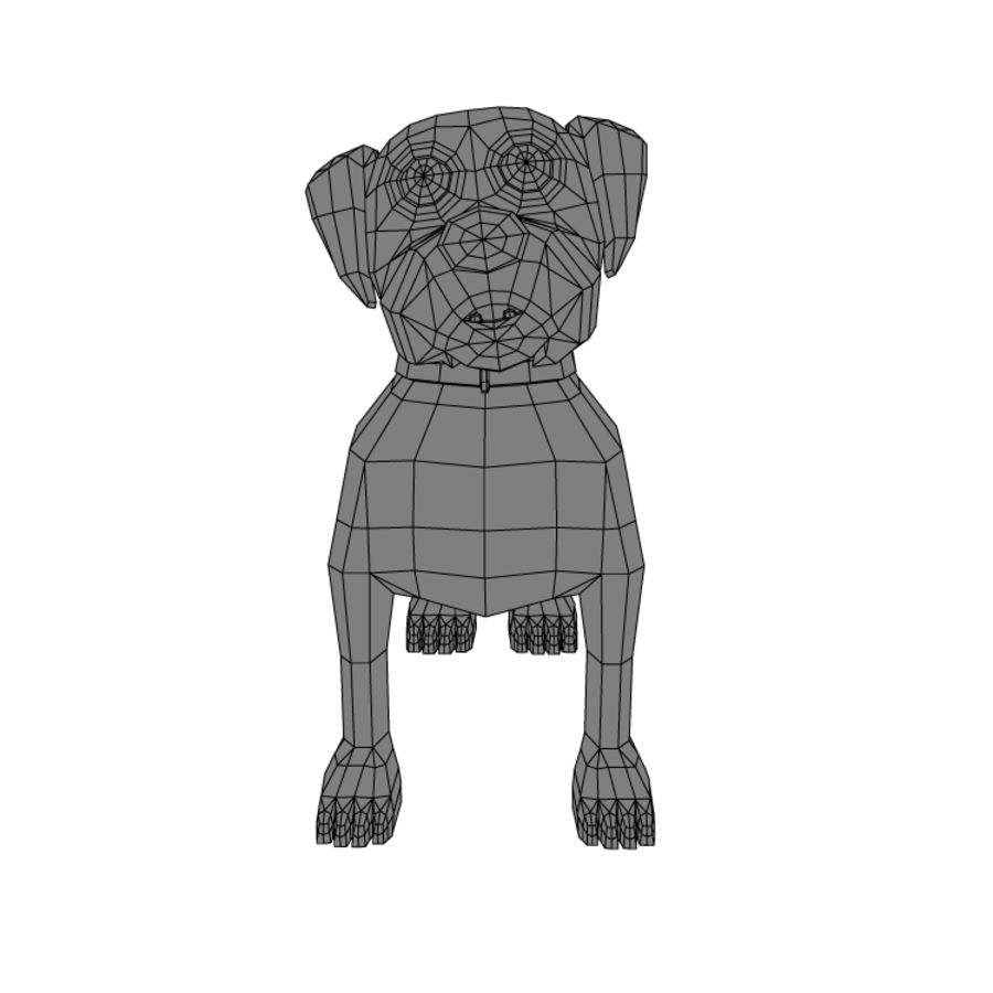 dog royalty-free 3d model - Preview no. 4