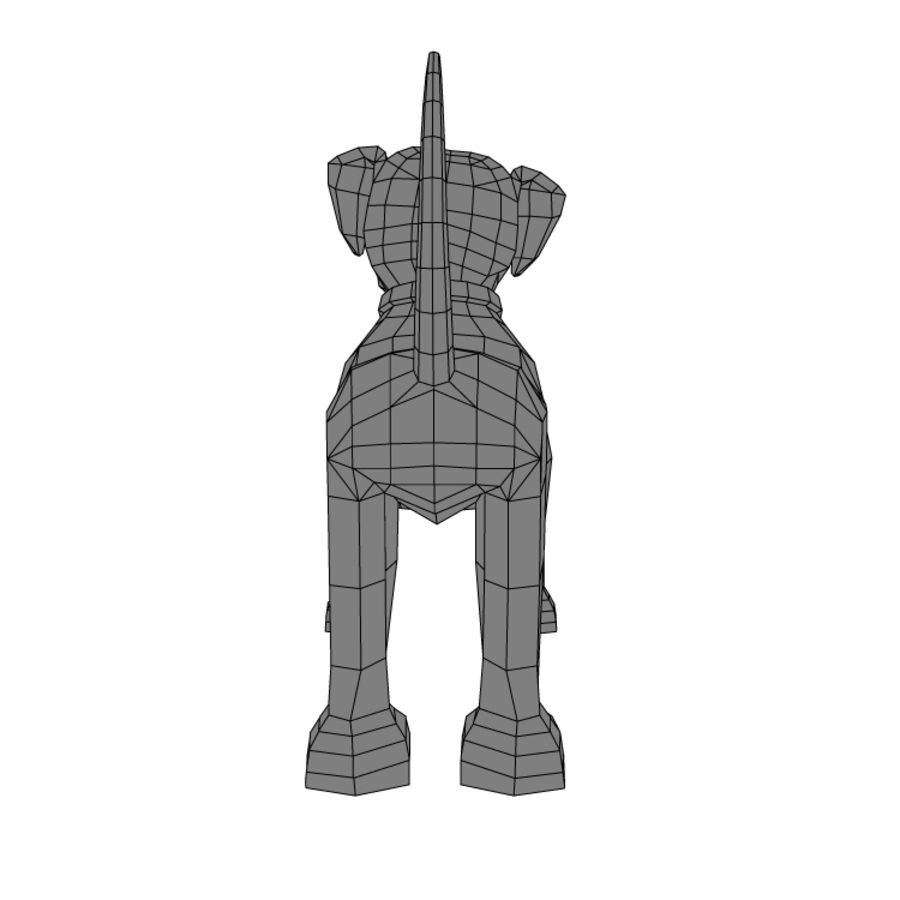 dog royalty-free 3d model - Preview no. 5