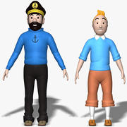 Tintin & Haddock 3d model