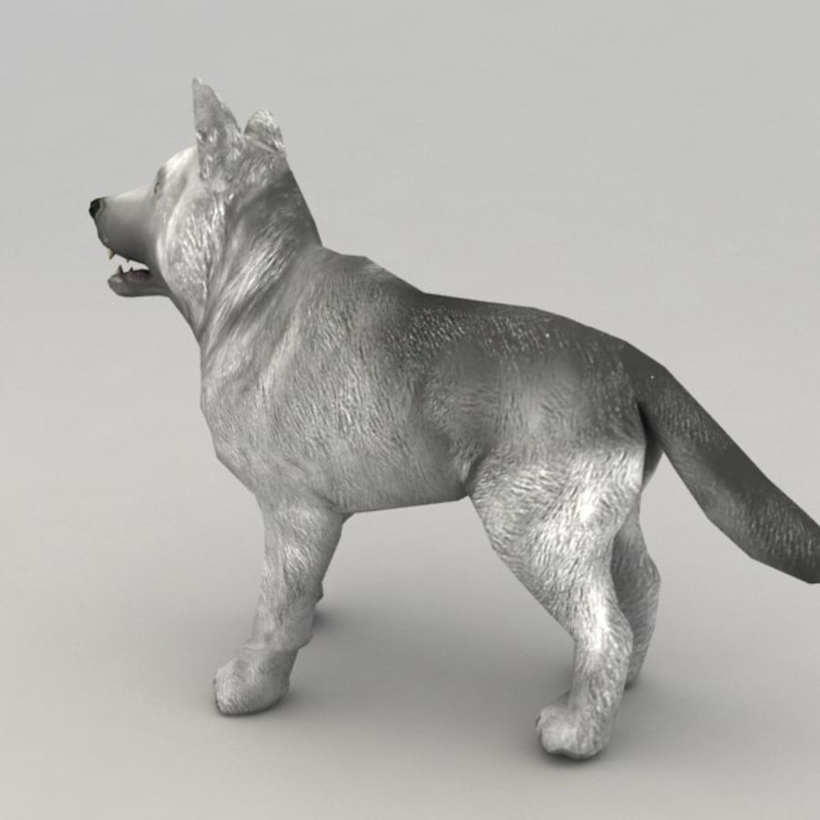 Wolf pup royalty-free 3d model - Preview no. 2