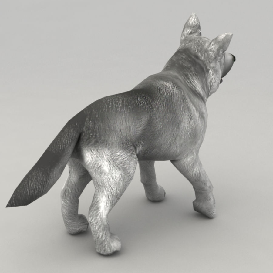 Wolf pup royalty-free 3d model - Preview no. 3