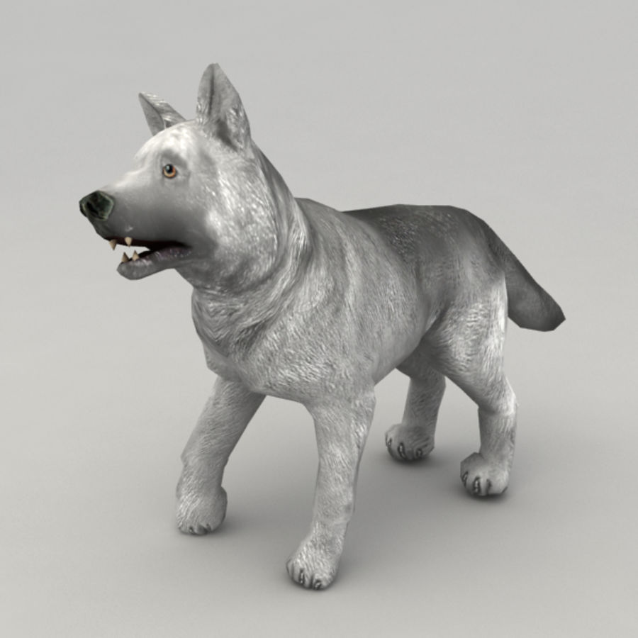 Wolf pup royalty-free 3d model - Preview no. 1