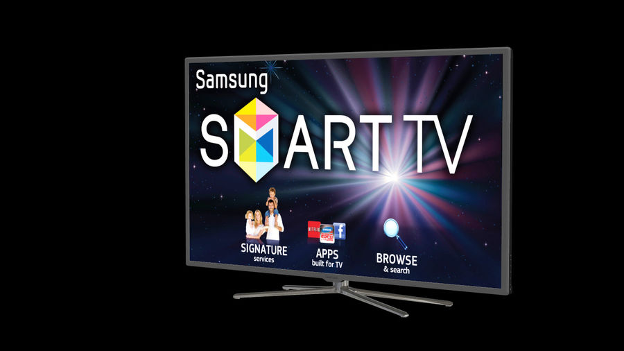 Samsung Smart TV royalty-free 3d model - Preview no. 8