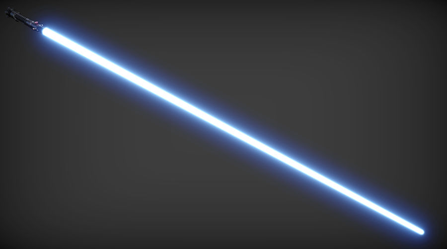 Obi-Wan Kenobi TMP Lightsaber royalty-free 3d model - Preview no. 3