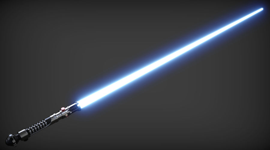 Obi-Wan Kenobi TMP Lightsaber royalty-free 3d model - Preview no. 6