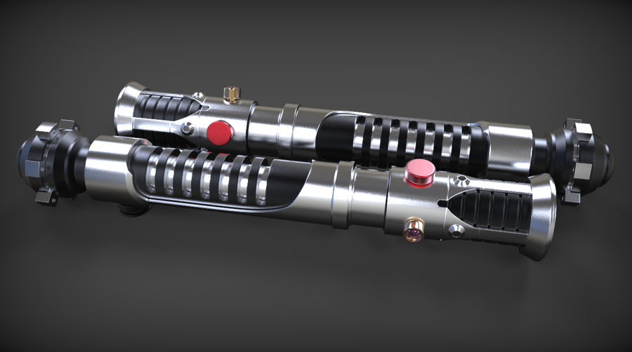 Obi-Wan Kenobi TMP Lightsaber royalty-free 3d model - Preview no. 23