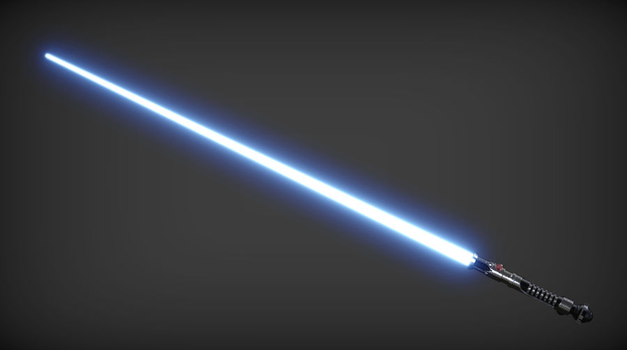 Obi-Wan Kenobi TMP Lightsaber royalty-free 3d model - Preview no. 2