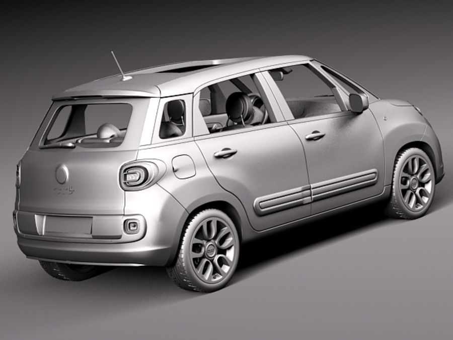 Fiat 500L USA-version 2013 royalty-free 3d model - Preview no. 12