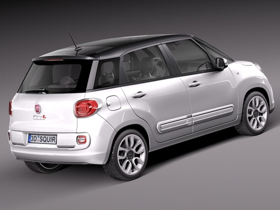 Fiat 500L USA-version 2013 royalty-free 3d model - Preview no. 5