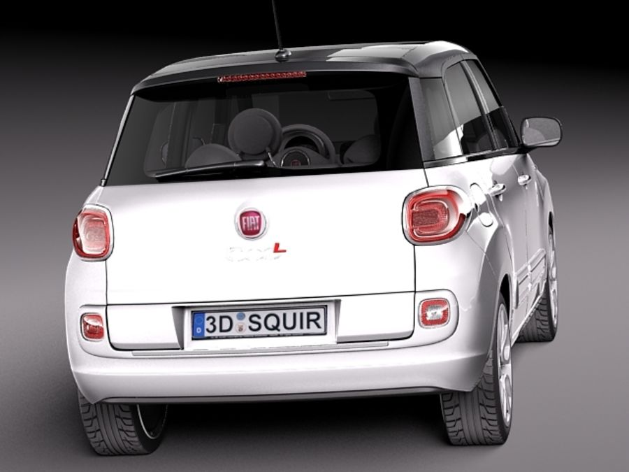 Fiat 500L USA-version 2013 royalty-free 3d model - Preview no. 6