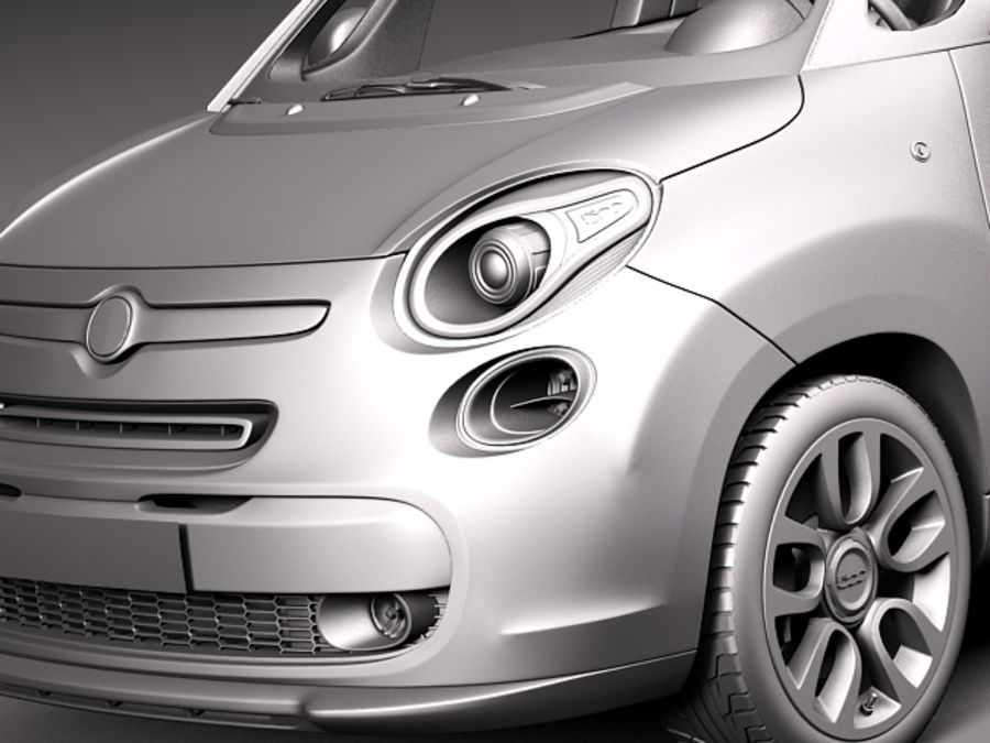 Fiat 500L USA-version 2013 royalty-free 3d model - Preview no. 10