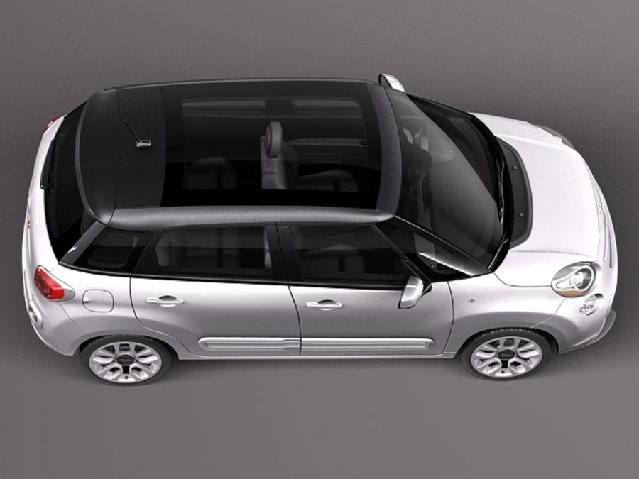 Fiat 500L USA-version 2013 royalty-free 3d model - Preview no. 8