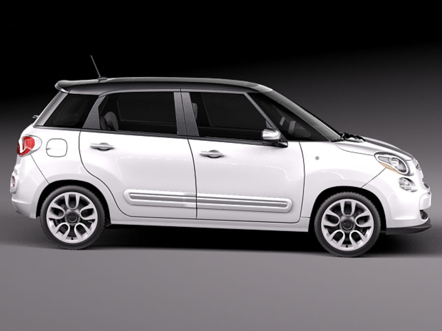 Fiat 500L USA-version 2013 royalty-free 3d model - Preview no. 7