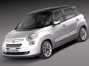 Fiat 500L USA-version 2013 3d model