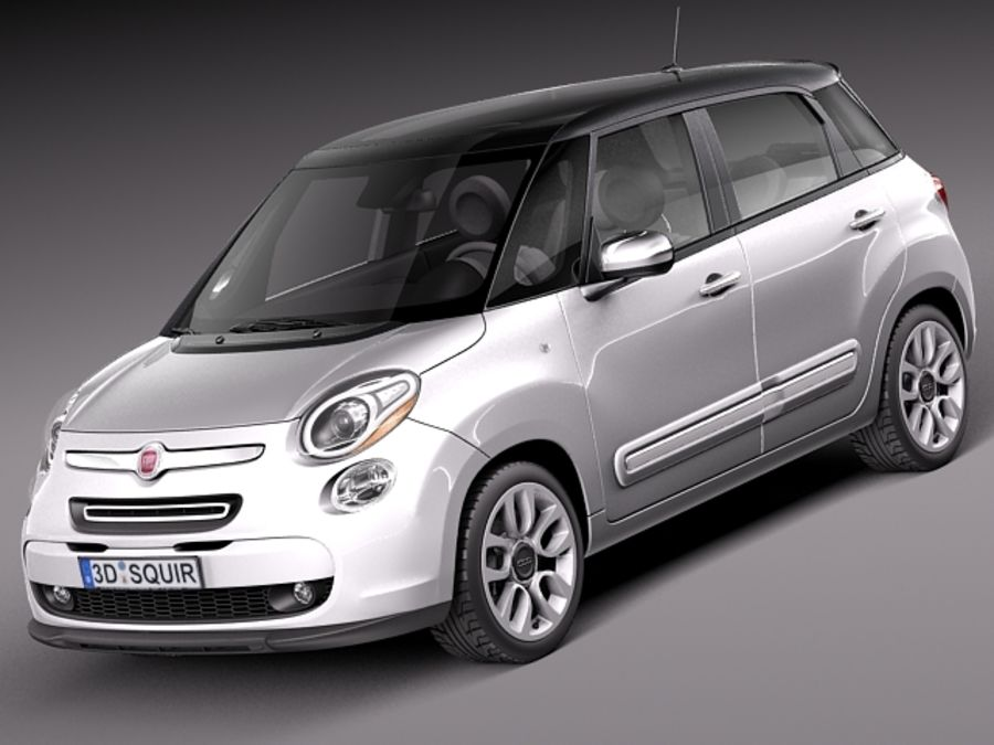 Fiat 500L USA-version 2013 royalty-free 3d model - Preview no. 1