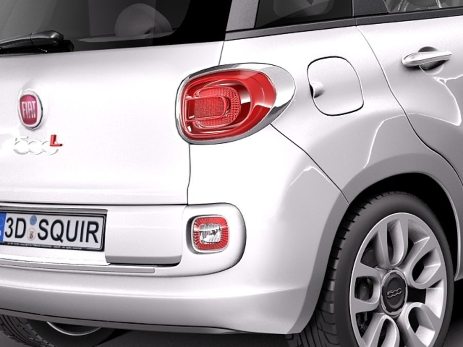 Fiat 500L USA-version 2013 royalty-free 3d model - Preview no. 4