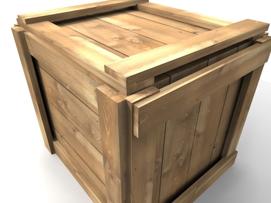 Simple Wooden Crate Royalty Free 3d Model