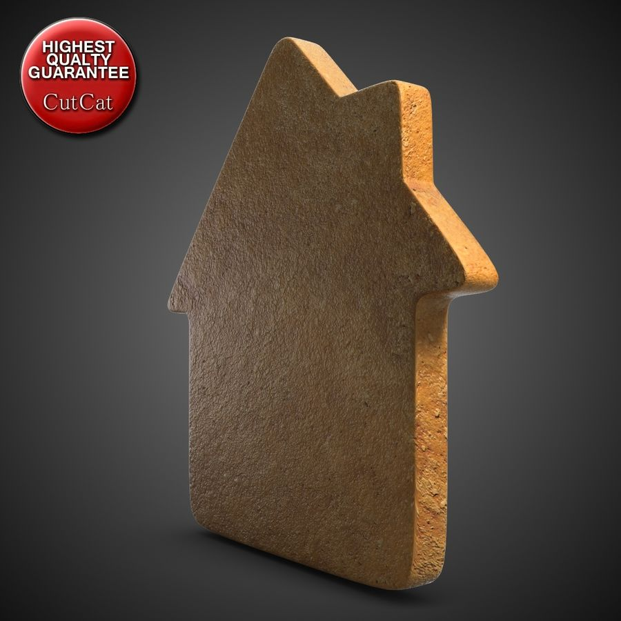 Gingerbread House royalty-free 3d model - Preview no. 3