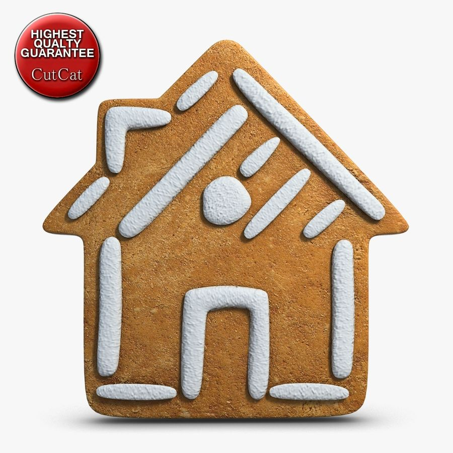 Gingerbread House royalty-free 3d model - Preview no. 1