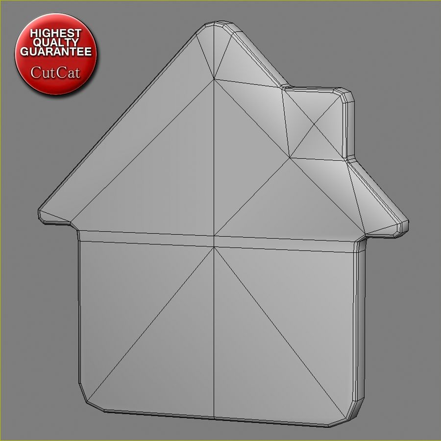 Gingerbread House royalty-free 3d model - Preview no. 7