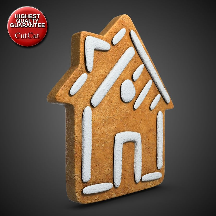 Gingerbread House royalty-free 3d model - Preview no. 2