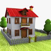 Cartoon House (4) 3d model