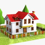 Cartoon House (5) 3d model