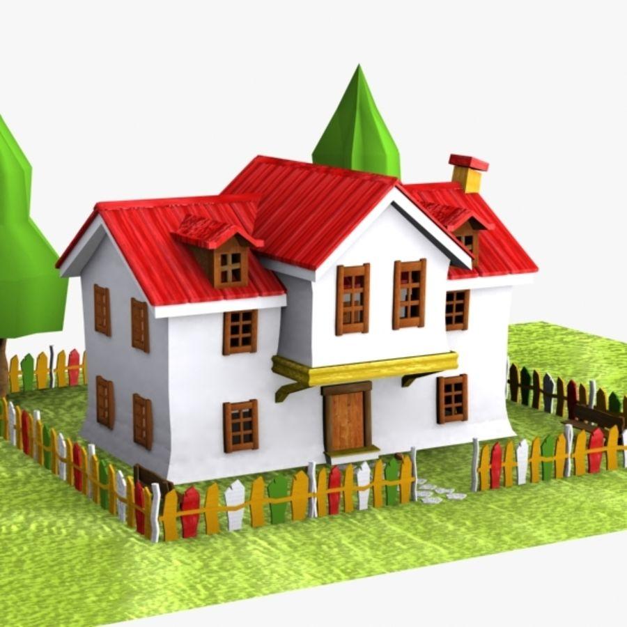 Casa de dibujos animados 5 modelo 3d 15 unknown max for Casa 3d gratis
