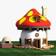 Mushroom House 1 (Smurfs) 3d model