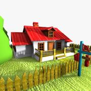Cartoon House (3) 3d model